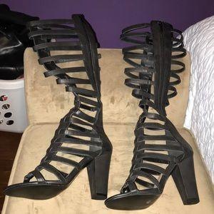 New never worn gladiator sandals heeled